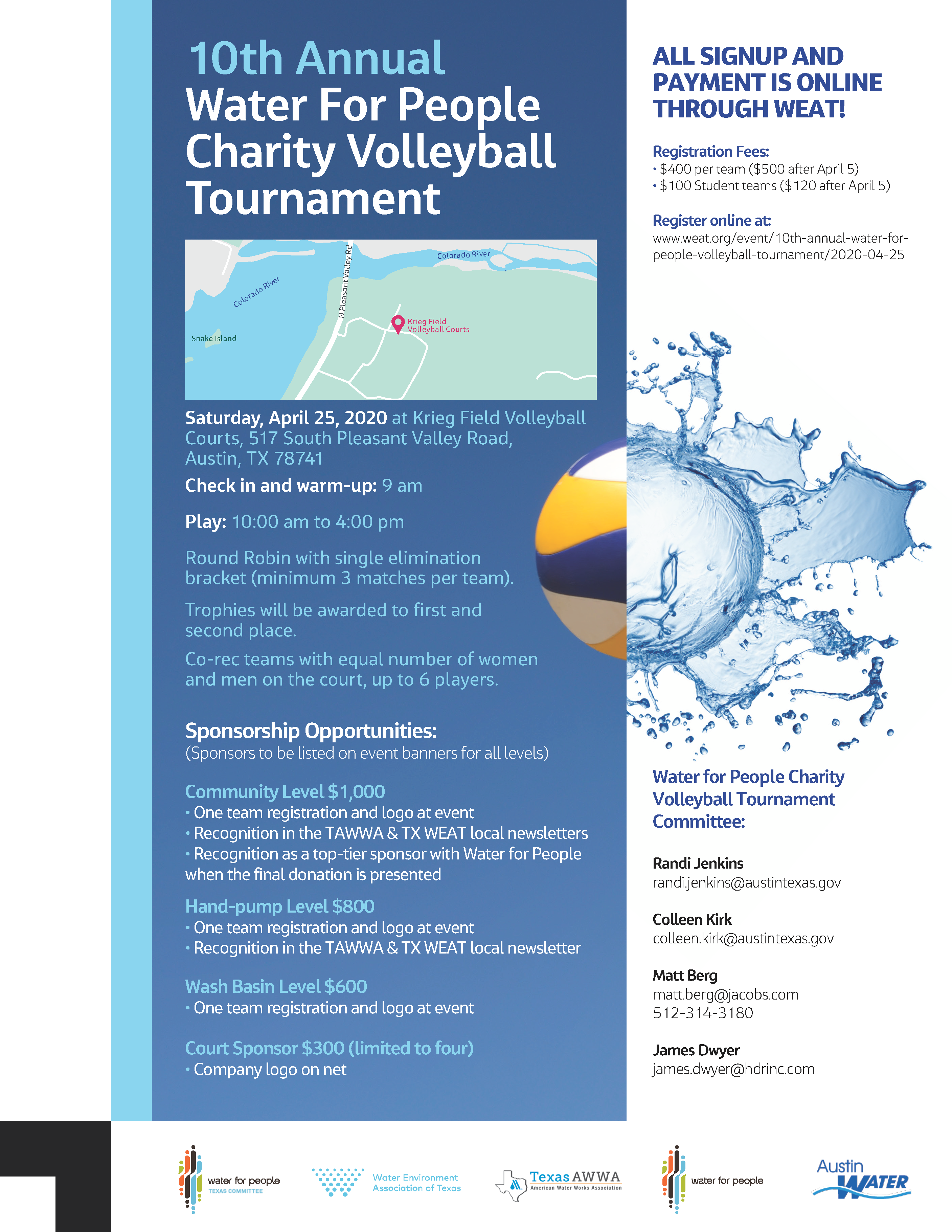 10th Annual Water For People Charity Volleyball Tournament